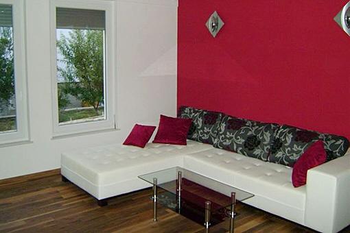 house insel rab - erstbezug in toplage - croatia property for sale - Wohnzimmercouch